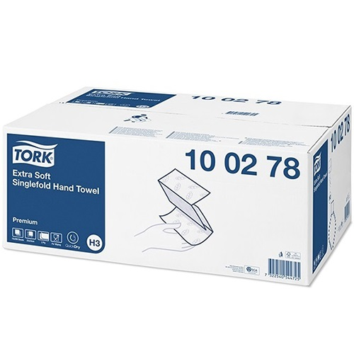 Tork Extra Soft Singlefold Hand Towel Premium 2 Ply
