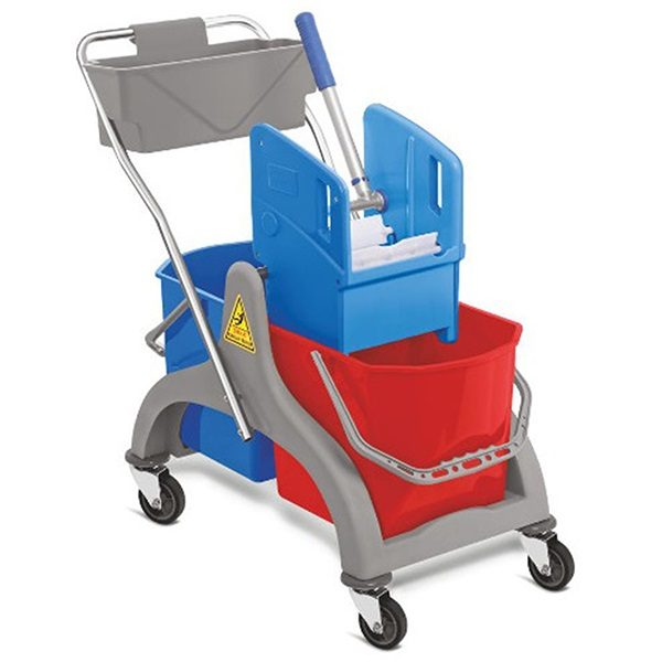 Double Bucket Trolley with wringer UAE Supplier