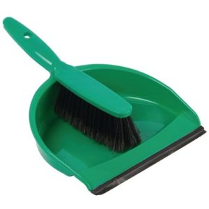 Dustpan with Brush and Rubber Edge