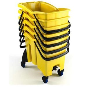 Split Plastic Bucket 30 Ltrs with Drain Plugs and Wringer UAE Supplier