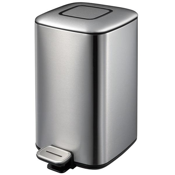 Stainless Steel Waste Bin 9L – Silver (Matt Finish)